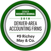 Award 2018 Denver area accounting firms