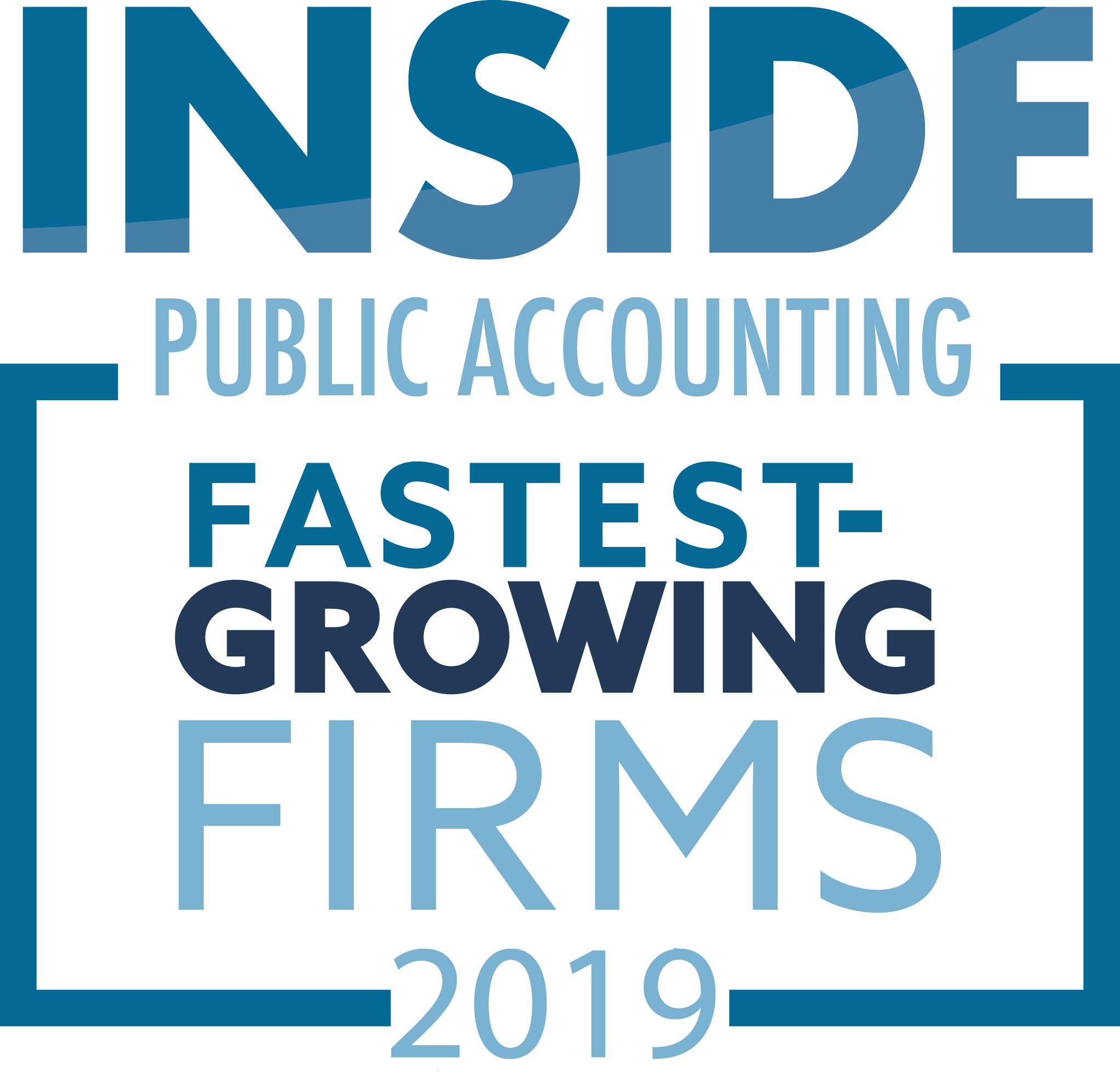 Inside Public Accounting Award- 2019 Fastest Growing Firms - 2019 was the 5th year in a row Richey May was recognized for growth.