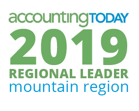 Accounting Today Award-2019 Regional leader mountain region