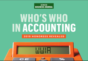 Denver Business Journal Award-2019 who's who in accounting