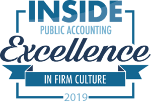 Inside Public Accounting Award- 2019 excellence in firm culture