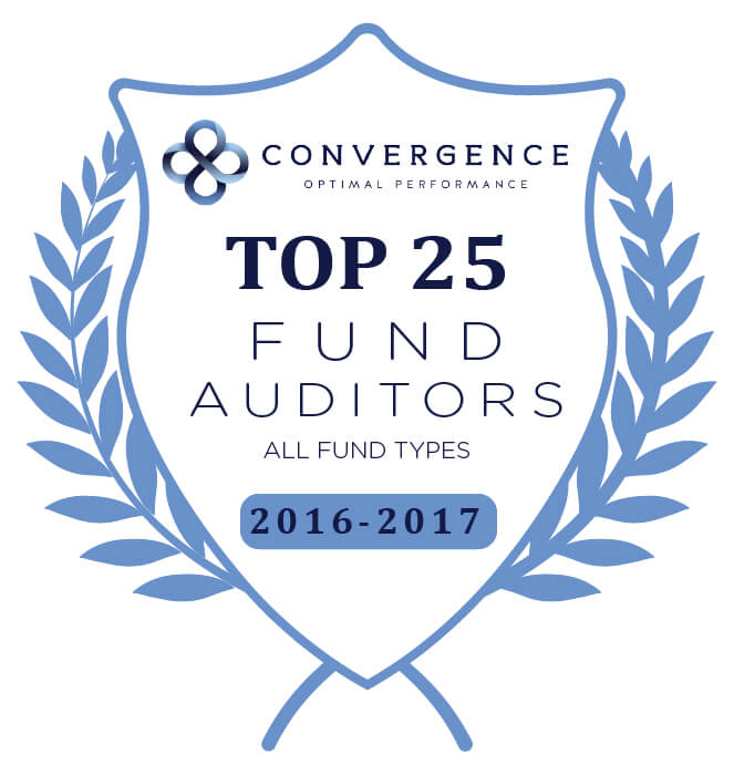 Convergence Optimal Performance recognized us as a Top 25 Fund Auditor for the 2016-2017 data collection period.