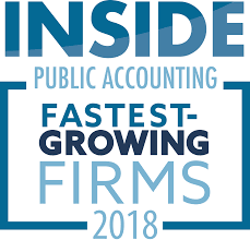Award - 2018 Inside Public Accounting Fastest Growing Firms