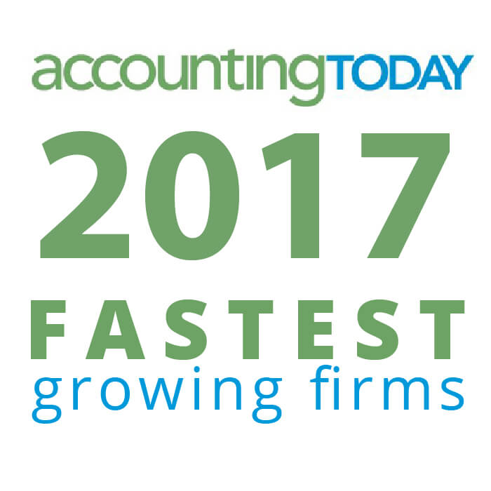Award - 2017 Accounting Today Fastest Growing Firm