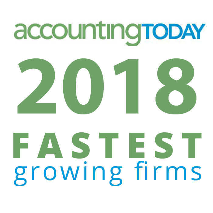 Award - 2018 Accounting Today Fastest Growing Firm