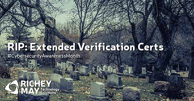 R.I.P Extended Validation Certificates